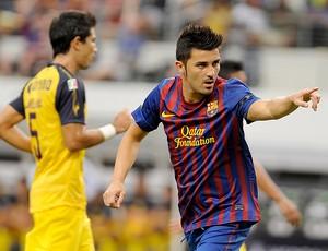 David Villa gol Barcelona (Foto: AP)