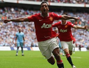 nani manchester united gol manchester city supercopa da inglaterra (Foto: agência Getty Images)