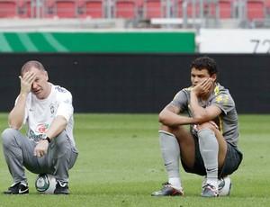 mano menezes seleção brasileira treino alemanha thiago silva (Foto: Divulgação/ Mowa Press)