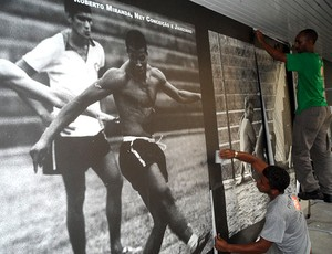 reforma no muro de General Severiano (Foto: Gustavo Rotstein / Globoesporte.com)