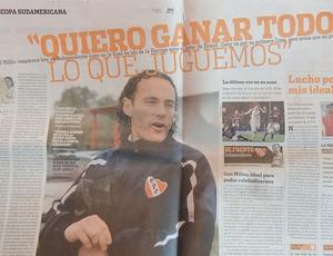 jornal Olé internacional x independiente (Foto: Alexandre Alliatti/Globoesporte.com)