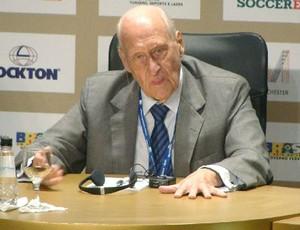 João Havelange na soccerex (Foto: Márcio Iannaca/Globoesporte.com)