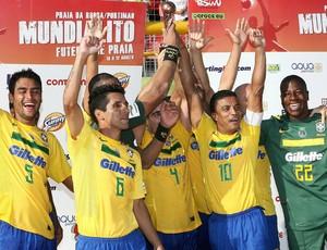 brasil x portugal futebol de areia (Foto: EFE)