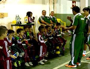 Comissão técnica sub-7 Fluminense (Foto: Reprodução SporTV)