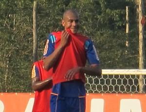 alex silva treino flamengo (Foto: Janir Junior/Globoesporte.com)