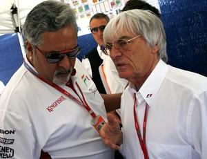 Formula 1 - Bernie Ecclestone e Vijay Mallya (Foto: AFP)