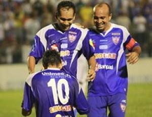 Águia de Marabá comemora gol sobre o Paysandu (Foto: Divulgação/Site Oficial do Águia de Marabá)