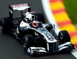 barrichello williams gp da bélgica (Foto: Agência Getty Images)