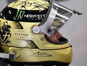 capacete schumacher mercedes gp da bélgica (Foto: Agência EFE)