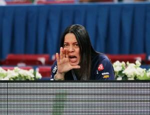 Rosicleia Campos técnica da seleção feminina de judô no Mundial de Paris (Foto: Marcio Rodrigues / FOTOCOM.NET)