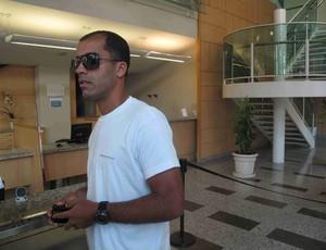 Felipe chega ao Hospital Pasteur para visitar Ricardo Gomes (Foto: Rafael Cavalieri/GLOBOESPORTE.COM)