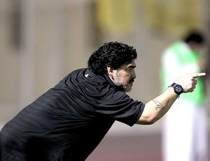 Maradona no comando do Al-Wasl (Foto: AFP)