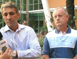 médicos Alexandre Campello e Manoel Moutinho (Foto: Rafael Cavalieri / GLOBOESPORTE.COM)