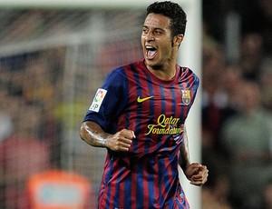 Thiago Alcantara comemora, Barcelona x Villarreal (Foto: AFP)