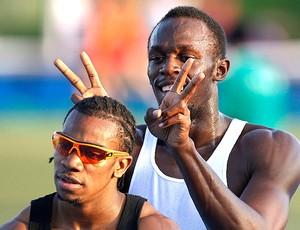 atletismo usain bolt e yohan blake treino daegu (Foto: Agência Reuters)