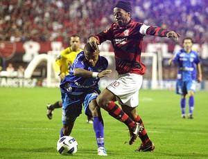 Ronaldinho Gaúcho no jogo do Avaí contra o Flamengo (Foto: Ag. Estado)