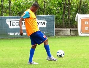 Airton no treino do Flamengo (Foto: Janir Junior / GLOBOESPORTE.COM)