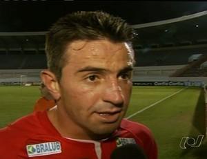 Leandro Cearense marcou seu segundo gol com a camisa do Vila Nova (Foto: Reprodução/PFC)