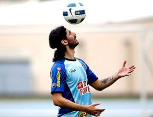 Loco Abreu no treino do Botafogo (Foto: Fernando Soutello / Divulgação AGIF)