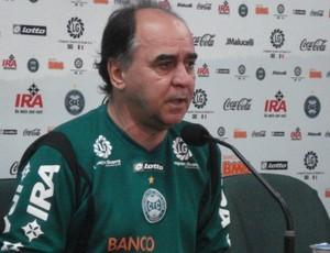 Marcelo Oliveira em entrevista coletiva no Couto (Foto: Fernando Freire/Globoesporte.com)