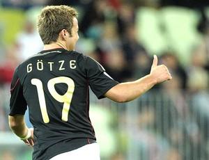 Mario Götze no jogo da Alemanha (Foto: EFE)