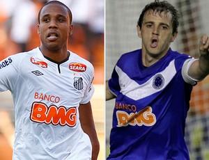 Montagem Borges e Montillo, Santos x Cruzeiro (Foto: Editoria de Arte/Globoesporte.com)