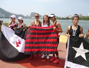 Fabiana Beltrame remo Patrícia Amorim Flamengo (Foto: Silvia Pontes / Site oficial do Flamengo)