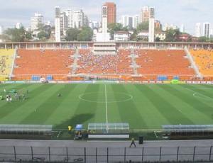 Pacaembu antes de Palmeiras x Inter (Foto: Diego Ribeiro / Globoesporte.com)