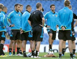 Michael Ballack treino Chelsea (Foto: AP)