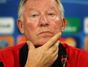 Alex Ferguson durante entrevista do Manchester United (Foto: Getty Images)