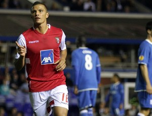 Lima comemora gol do Braga sobre o Birmingham (Foto: Getty Images)