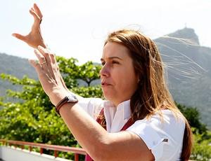 patricia amorim  flamengo entrevista (Foto: Marcelinho de Jesus / GLOBOESPORTE.COM)