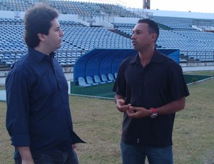 Presidente do Treze, Fábio Azevedo, e técnico do Sub-21, Anderson Alves (Foto: Divulgação / Treze)