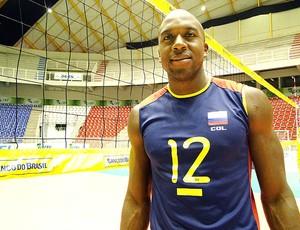 Andrés Viáfara da Colômbia vôlei (Foto: Editoria de Arte / GLOBOESPORTE.COM)