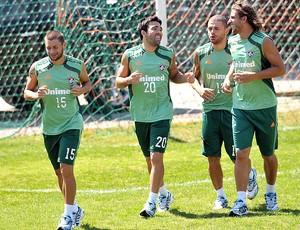 Deco, Rafael Sobis, Rafael Moura e Edinho no treino do Fluminense (Foto: Agência Photocâmera)