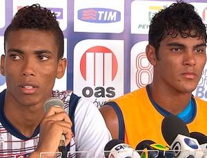 madson e rafael, da base do bahia (Foto: Reprodução/TV Bahia)