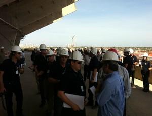 Visita dos membros da Fifa/COL às obras do Estádio Castelão (Foto: Divulgação/Secopa)