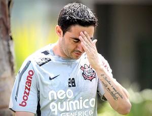 Chicão no treino do Corinthians (Foto: Ag. Estado)