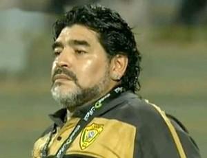 Maradona no jogo do Al Wasl (Foto: Reprodução internet)