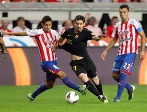 messi barcelona x sporting gijon (Foto: EFE)