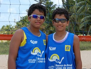 Rafael e Renato Sub15 Paraíba 1 (Foto: Kako Marques)