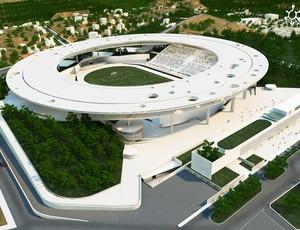 Projeto do Estádio Estadual Kleber José de Andrade, o novo Kleber Andrade (Foto: Divulgação/Sesport)