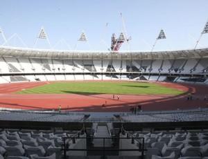 pista de atletismo dos JogosOlímpicos de Londres-2012 (Foto: Reuters)