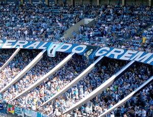 Torcida do Grêmio no Olimpico (Foto: Globoesporte.com)
