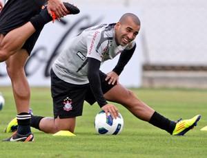 Emerson Sheik no treino do Corinthians (Foto: Agência Estado)