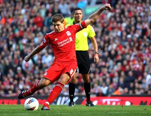 Gerrard, Liverpool x Manchester United (Foto: Getty Images)