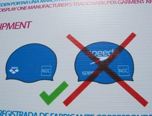 Aviso de restrições a patrocínios nos uniformes Pan Guadalajara (Foto: Gustavo Rotstein/Globoesporte.com)