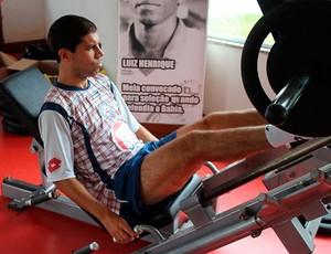 ricardinho, meia do bahia, treina na academia do clube (Foto: Felipe Oliveira/Site Oficial)