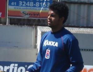 Thiago Rodrigues, goleiro do Paraná Clube (Foto: Fernando Freire/GLOBOESPORTE.COM)