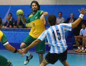 Pan handebol masculina Brasil x Argentina (Foto: Luiz Pires/Vipcomm/Divulgação)